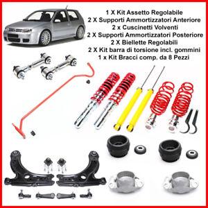 Assetto Regolabile Kit Bracci Supporti Biellette Barra Di Torsione VW Golf 4 IV