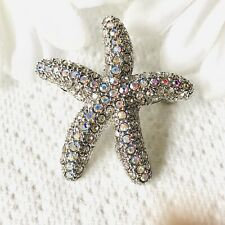 Starfish Brooch/pendant Austrian Crystal