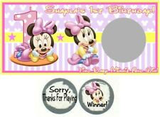 10 Baby Minnie Mouse Birthday Party Baby Shower Scratch Off Game 1st Or Any Age