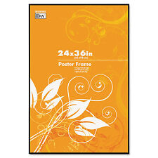dax coloredge poster frame clear plastic window 24 x 36 black n16024bt