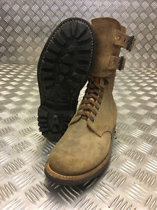 Genuine French Foreign Legion Brown Leather / Suede Army Boots Size 40 NEW FB302