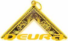 Freemason Masonic Worshipful Master Collar Jewel in GOLD NEW