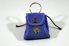PORTE-MONNAIE, porte-clef,cuir motif tête de cheval,bleu et autres objets cheval