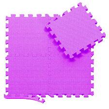 Purple 31 X 31 cm Eva Foam Mat Soft Floor Tiles Interlocking Play Kids Baby Mats