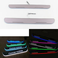 Customized Motion LED Moving Courtesy Light Door Sill Scuff Plate For Ford