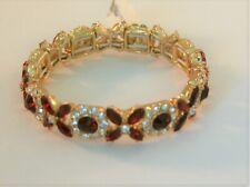 siam crystal stretch bracelet Charter Club gold tone red