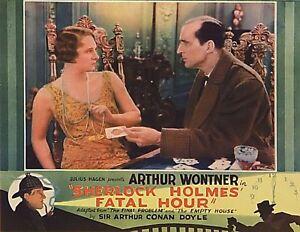 Sherlock Holmes Sleeping Cardinal Fatal Hour - 1931 - Wontner - Vintage Film DVD