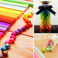 160X Folding Paper Origami Lucky Star Paper Strip Ribbons Craft Best Wish MW