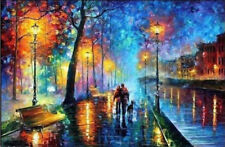Modern Abstract Hand-painted Art Oil Painting Wall Decor Canvas,River(No Frame)