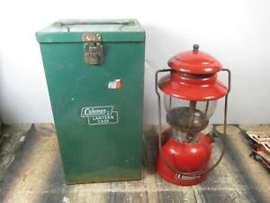 COLEMAN LANTERN 200 RED  W / CASE   DATED 1 - 70 NO RESERVE
