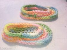 BABY SANDALS FLIP FLOPS SHOES CROCHET Size 3-6 Months Pink Blue Green NEW