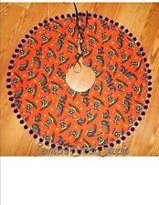 """WITCH HATS AND BOOTS,Tree Skirt,Lamp Skirt 26""""dia,Halloween, Prim,Fall, Hat,Boot"""