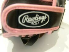 "Rawlings 12"" Youth Softball Fast Pitch Glove Brown Pink - Right-Hand Throw"