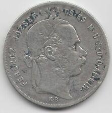 1 Forint 1874 KB Österreich Ungarn Franz Joseph I. Silber Münze Silver Coin
