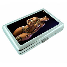 Egyptian Pin Up Girls D2 Silver Metal Cigarette Case RFID Protection Wallet