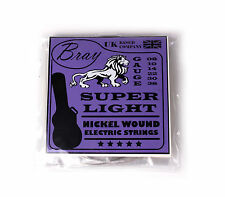 Bray Super Light Electric Guitar Strings (08-38) For Fender Gibson Ibanez Yamaha