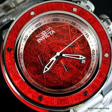Invicta Subaqua Sea Dragon Aztec Stainless Steel 52mm Red Wooden Inlay Watch New