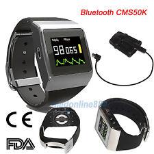 Bluetooth OLED Wrist Pulse Oximeter SpO2/ECG pedometer Monitor 24 hours record