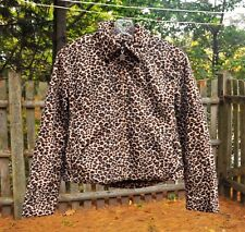Girl's Size 10/12 Faux Leopard Fur Jacket Coat by Mudd Quilt Lined Zip Front