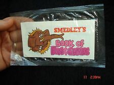 1980 Quaker Captain Cap'n Crunch Cereal Premium SMEDLEY'S Book of Fun & Games