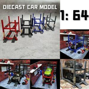 DIY 1:64 Car Model Parking Lifter Machine Diorama Garage Model Tool Toy
