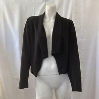 Soho Apparel Womens Black Open Front Blazer Jacket Medium
