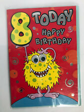 Mandarin Platinum Publishing - Age 8 Happy Birthday Card - Have a Monster 8th BD