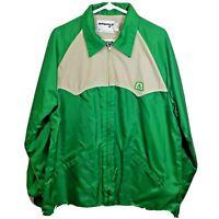 Vintage Swingster Jacket Pioneer Seed Patch Mens Large Green Farmer
