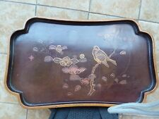 JAPANESE LACQUERED TRAY ANTIQUE SIGNED