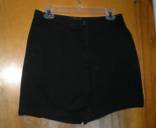 Lauren Ralph Lauren Ladies Black Denim Shorts Size 10P Excellent
