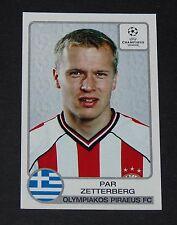 #220 ZETTERBERG SVERIGE OLYMPIAKOS HELLAS FOOTBALL CHAMPIONS LEAGUE 2001-2002