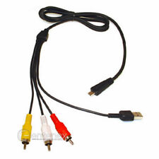 AV USB Cable for Sony VMCMD3 Cyber-shot DSC-W350 DSC-W380 DSC-W320B DSC-W360