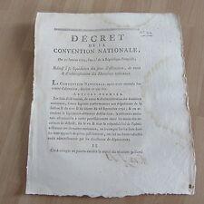 DECRET CONVENTION NATIONALE 1793 vente des domaines nationaux