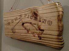 Gone Fishing Wooden Home Decor Sign Handmade Dav Donation