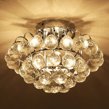 Homcom 3 Light Flush Mount Ceiling Light Silver