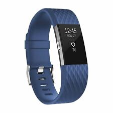 for Fitbit Charge 2 Heart Rate Fitness Wristband band replacement Blue large