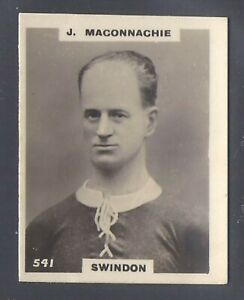 PINNACE FOOTBALL-PHOTO BACK-#0541- SWINDON - J. MACONNACHIE