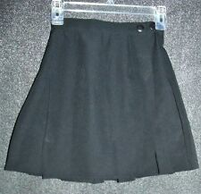 Vtg 90s black pleated skirt Size 3 pleated mini skirt