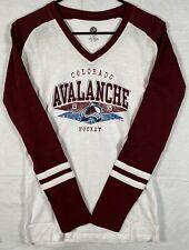 Colorado Avalanche Womens V neck T-shirt Nwt