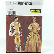 Butterick 3713 Plus Size Victorian Royal Gown Dress Ermine Robe Costume Sz 18 22