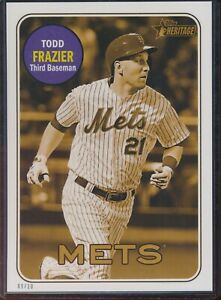 2018 Topps Heritage High Number Todd Frazier 5x7 Gold Action Image /10