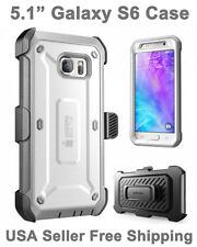 SUPCASE For Galaxy S6 Full Body Rugged Holster Case & Screen Protector Gray
