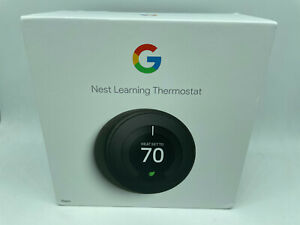 New Google Nest T3016US 3rd Generation Learning Thermostat - Black