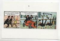 Carte postale Hergé. Les dupondt et la Bugatti.  Carte espagnole
