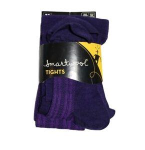 """NWT Women's Smartwool Purple Chevron Tights Sz Medium Fits 5'4"""" - 5'8"""""""