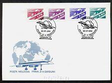1992 TU-144,Airplane Tupolew,Tupolev TU 144,Avion,Flugzeug,Moldova,Mi.10,FDC