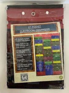 American Studio 27 Pocket Classroom Organizer Storage Folder Hanging Holder -RED