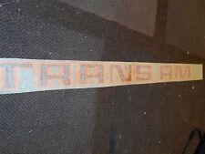 "1970's 1980's PONTIAC FIREBIRD TRANS-AM TRANS AM TRUNK DECKLID DECAL 30"" ORANGE"