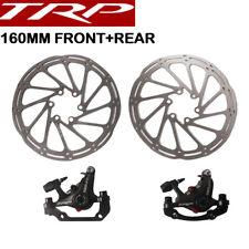 Pinza de freno de disco mecánico TRP Spyre Set Delantero y Trasero Con Rotor 160mm Bicicleta de montaña