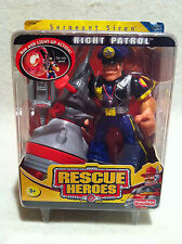 Rescue Heroes Night Patrol Sergeant Siren Police Officer Factory Sealed!
